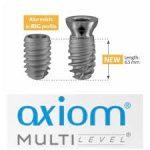 2009 - AXIOM -  implantátum 6,5 mm-es hosszal, először